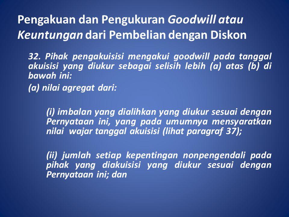 Pengakuan dan Pengukuran Goodwill atau Keuntungan dari Pembelian dengan Diskon