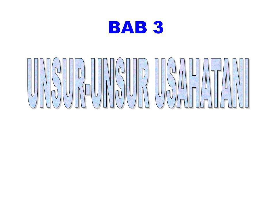 UNSUR-UNSUR USAHATANI