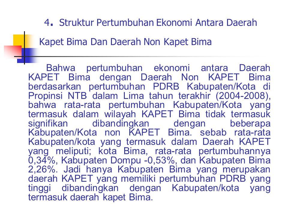 4. Struktur Pertumbuhan Ekonomi Antara Daerah Kapet Bima Dan Daerah Non Kapet Bima