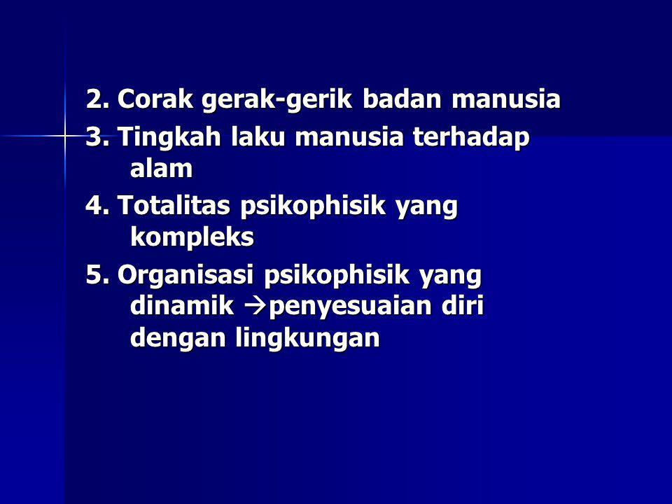 2. Corak gerak-gerik badan manusia