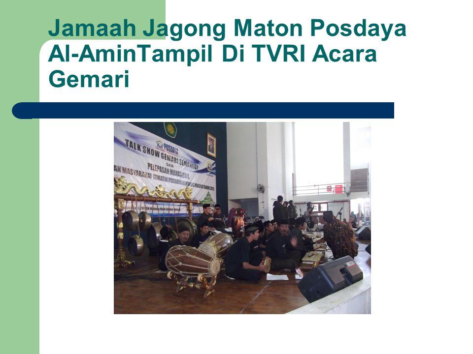 Jamaah Jagong Maton Posdaya Al-AminTampil Di TVRI Acara Gemari
