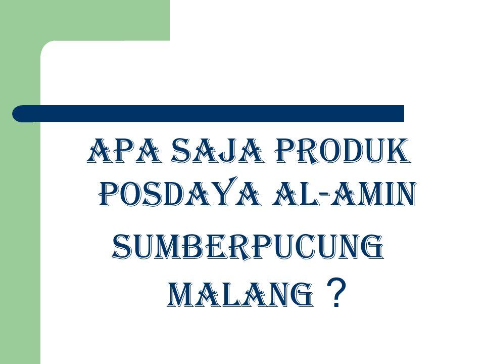 Apa Saja Produk Posdaya Al-Amin