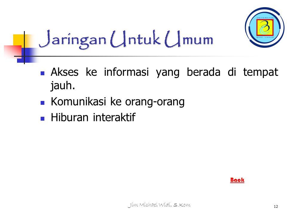 Jaringan Untuk Umum Akses ke informasi yang berada di tempat jauh.