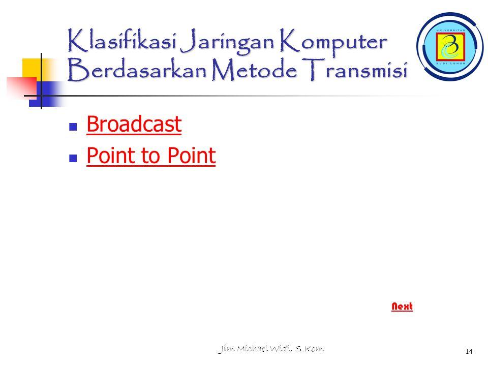 Klasifikasi Jaringan Komputer Berdasarkan Metode Transmisi