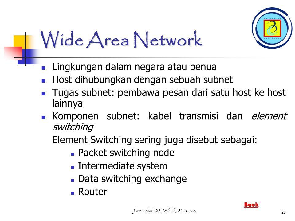 Wide Area Network Lingkungan dalam negara atau benua