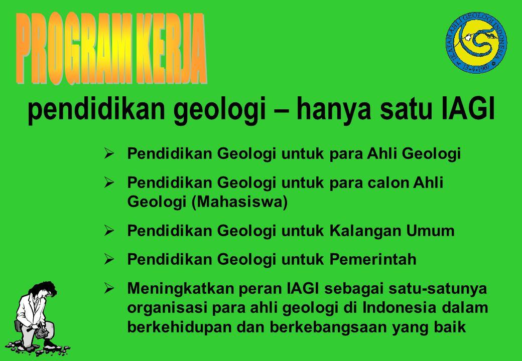 pendidikan geologi – hanya satu IAGI