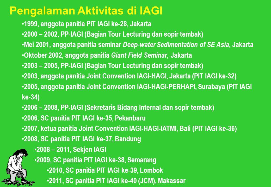 Pengalaman Aktivitas di IAGI