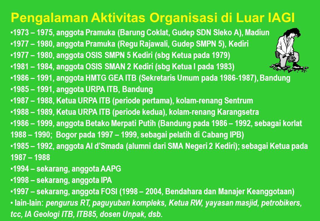 Pengalaman Aktivitas Organisasi di Luar IAGI
