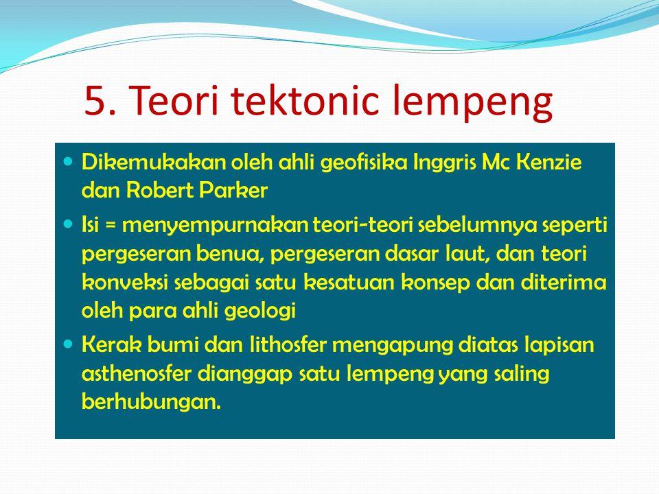 5. Teori tektonic lempeng
