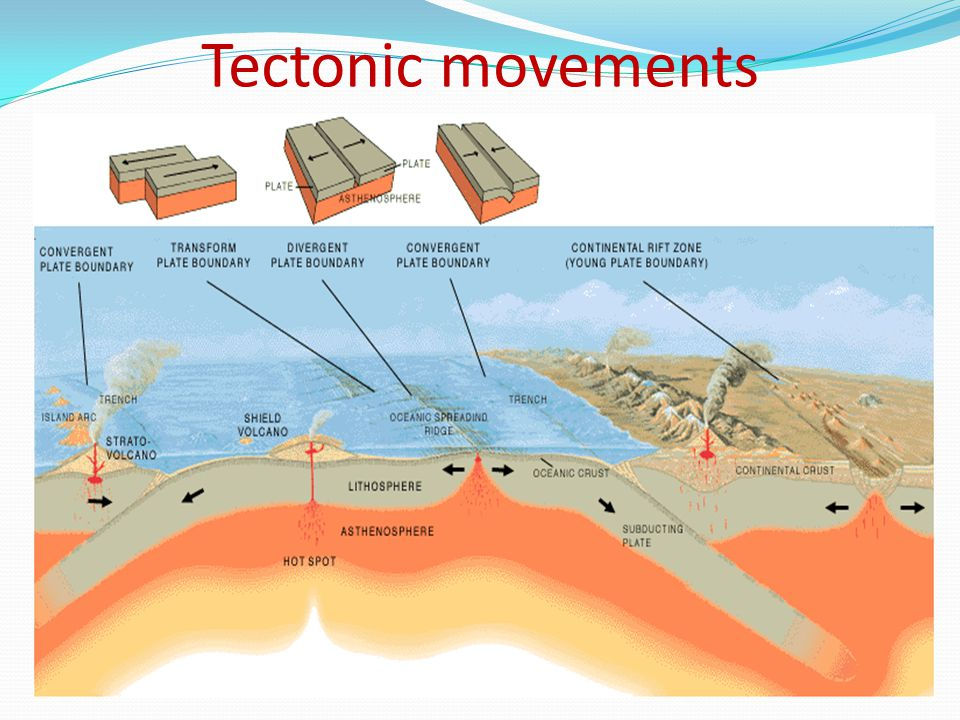 Tectonic movements