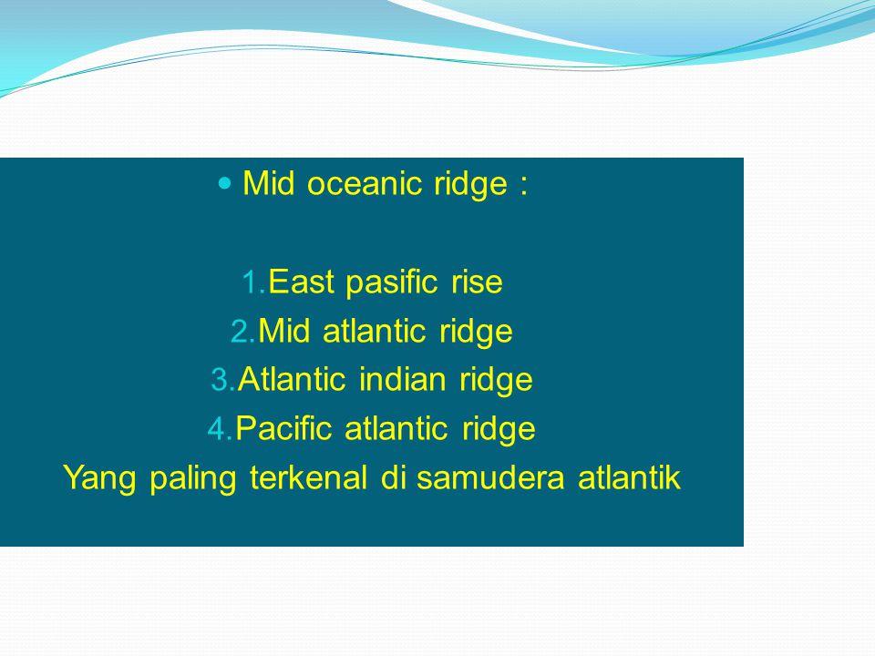 Pacific atlantic ridge Yang paling terkenal di samudera atlantik