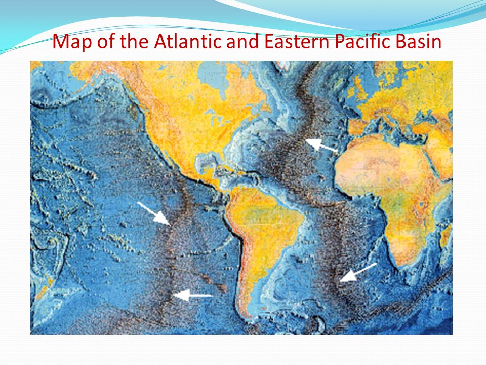 Map of the Atlantic and Eastern Pacific Basin