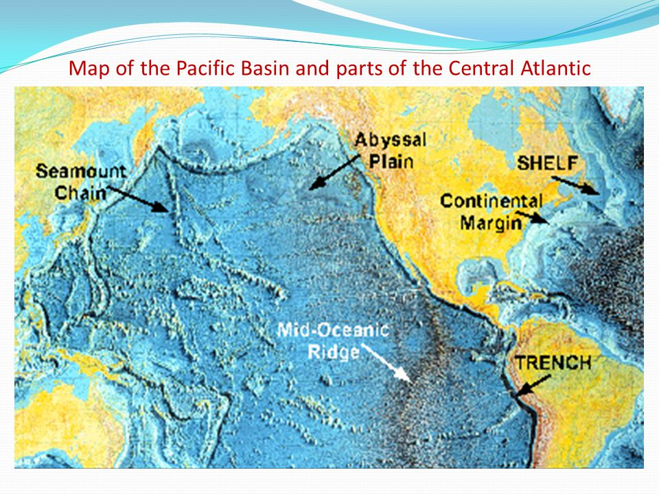 Map of the Pacific Basin and parts of the Central Atlantic