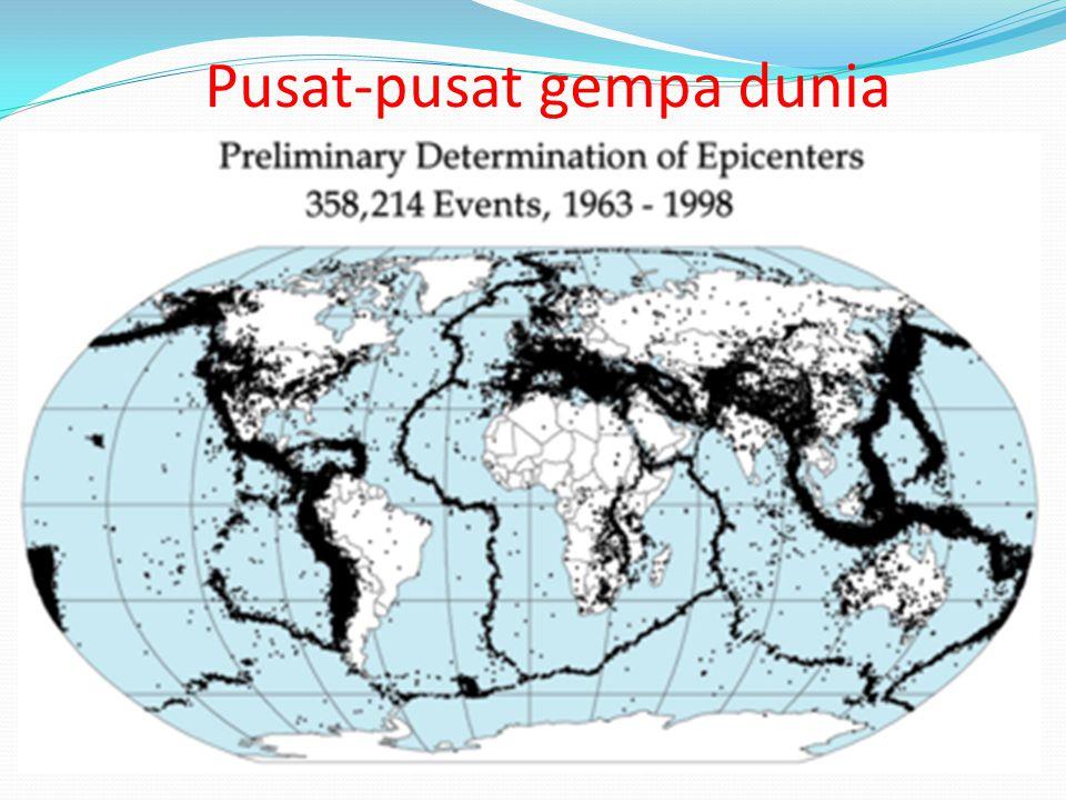 Pusat-pusat gempa dunia