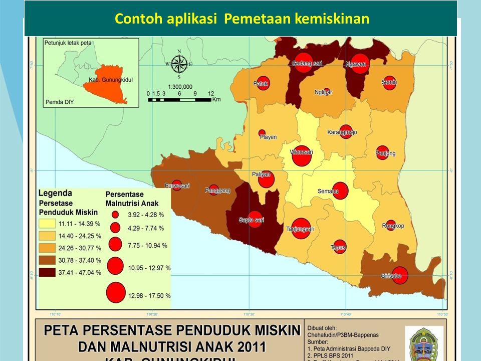 Contoh aplikasi Pemetaan kemiskinan