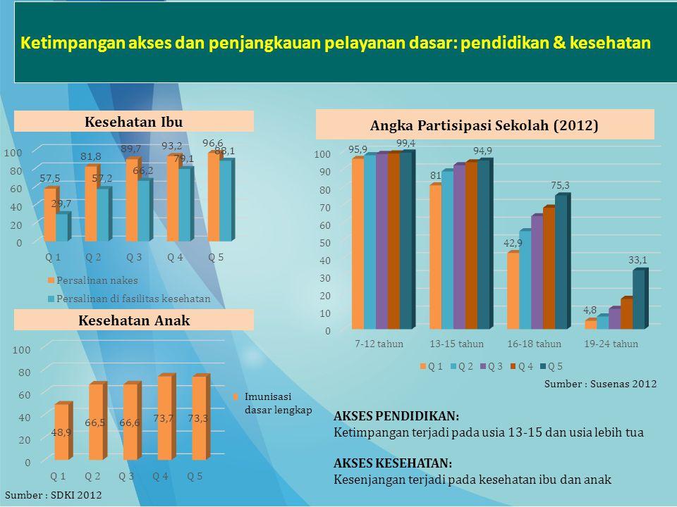 Angka Partisipasi Sekolah (2012)