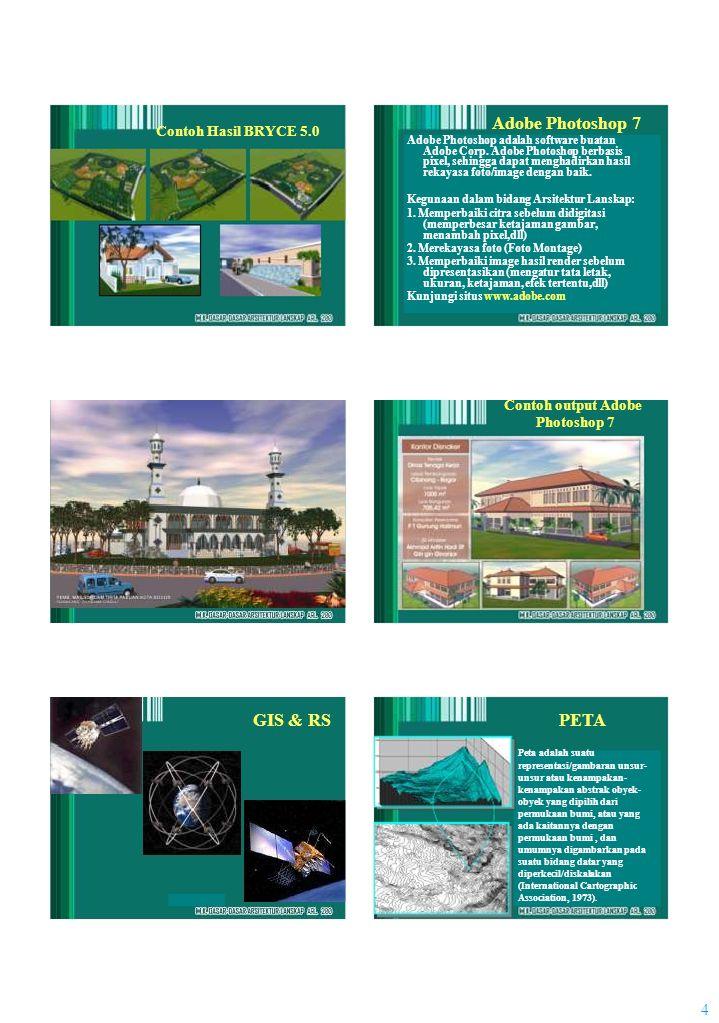 Adobe Photoshop 7 Peta adalah suatu 4 Contoh Hasil BRYCE 5.0