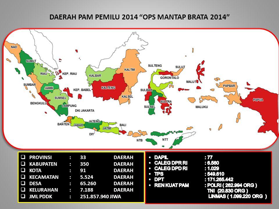 DAERAH PAM PEMILU 2014 OPS MANTAP BRATA 2014
