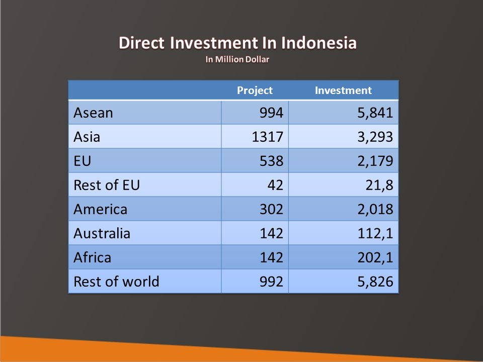 Direct Investment In Indonesia