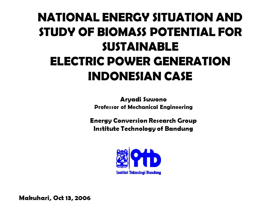 NATIONAL ENERGY SITUATION AND