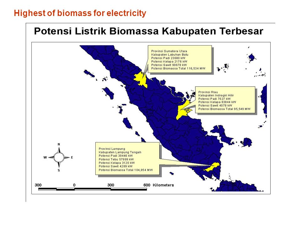 Highest of biomass for electricity