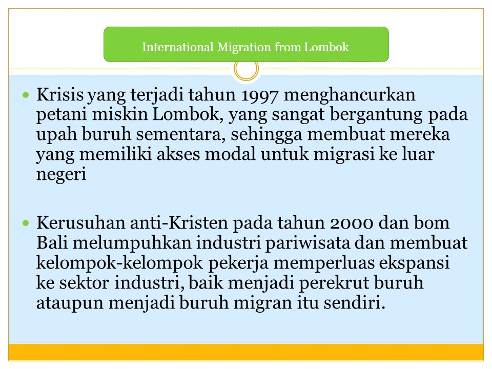 International Migration from Lombok