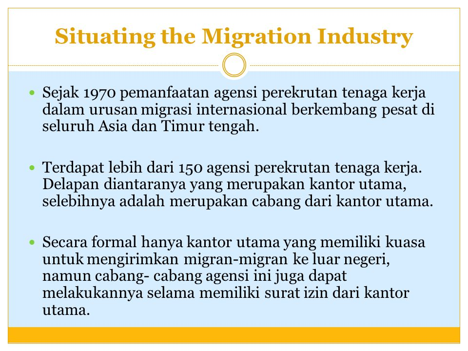 Situating the Migration Industry