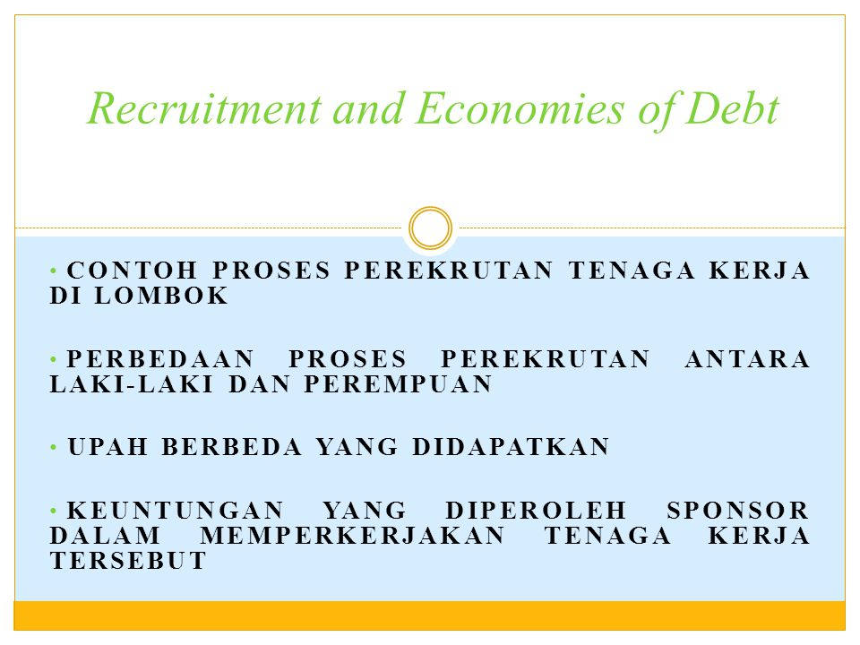 Recruitment and Economies of Debt
