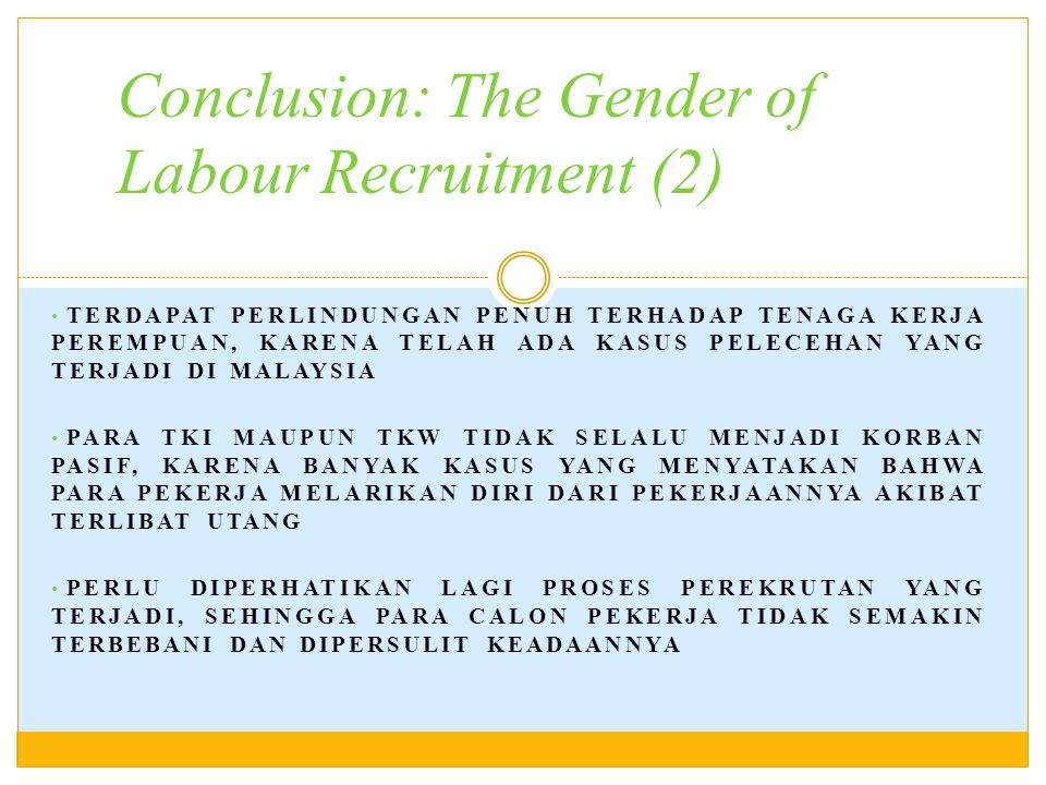 Conclusion: The Gender of Labour Recruitment (2)