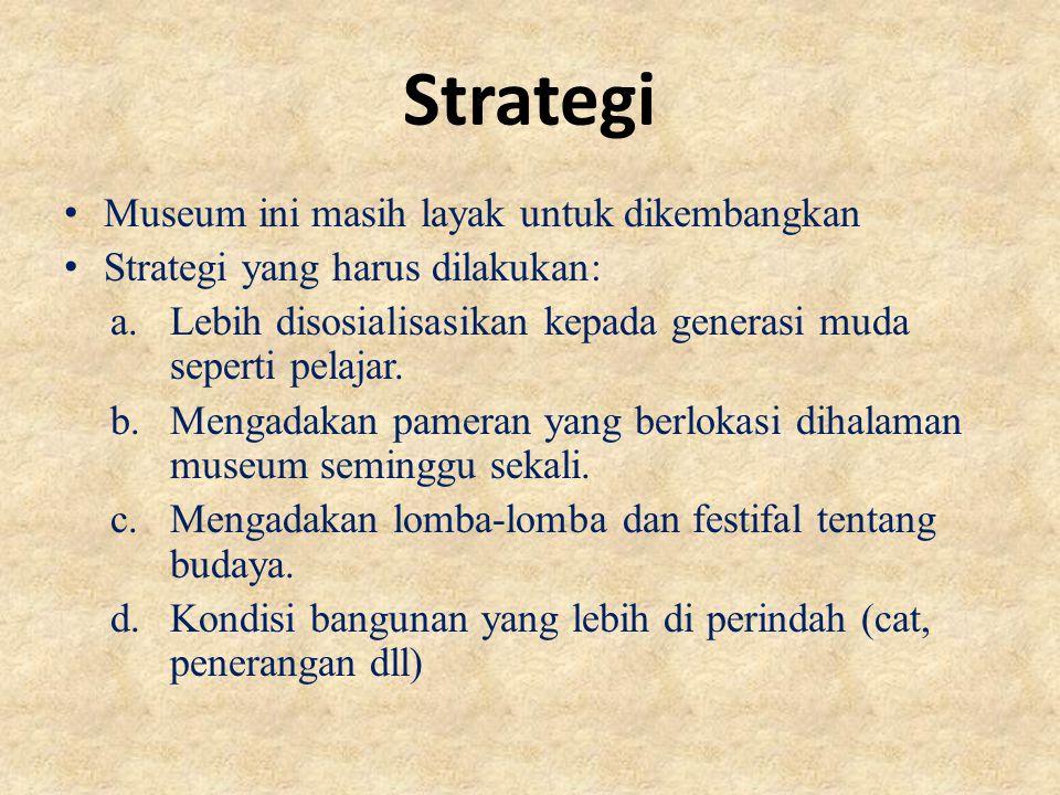 Strategi Museum ini masih layak untuk dikembangkan