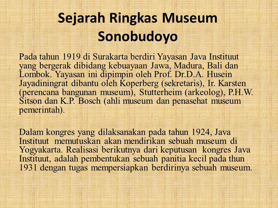 Sejarah Ringkas Museum Sonobudoyo