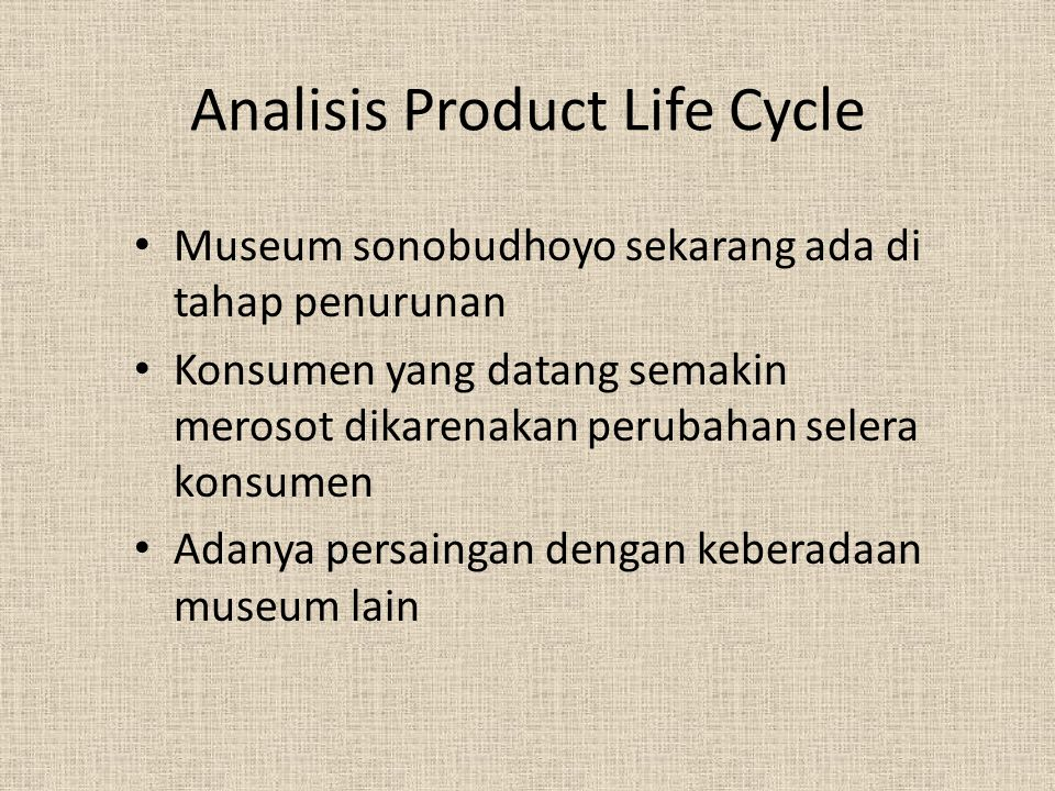 Analisis Product Life Cycle