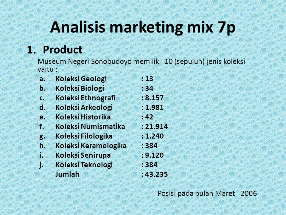 Analisis marketing mix 7p