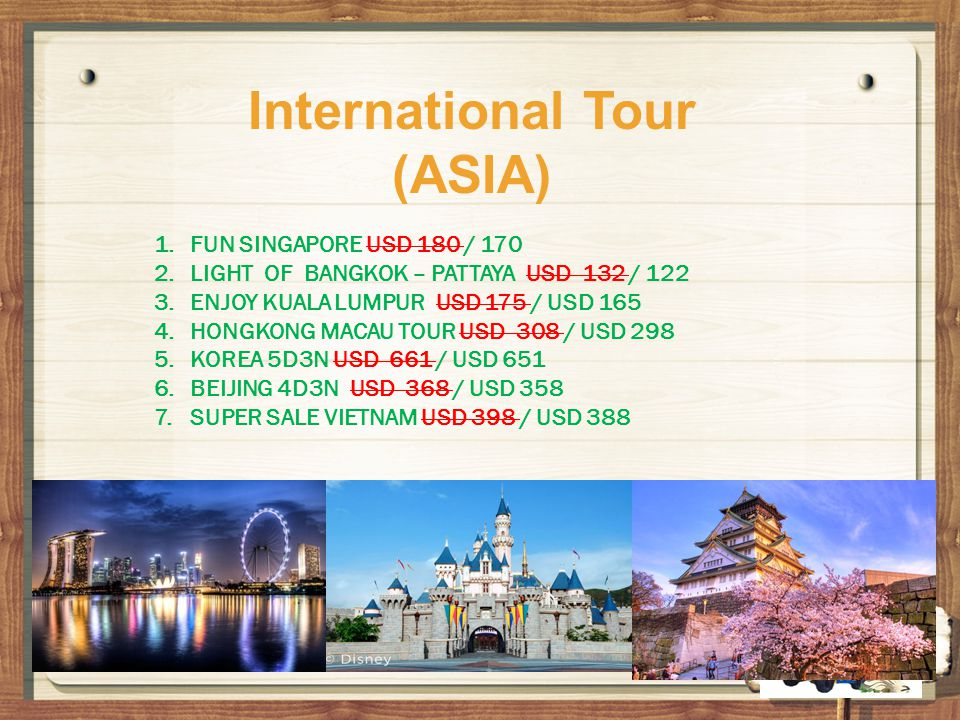 International Tour (ASIA)
