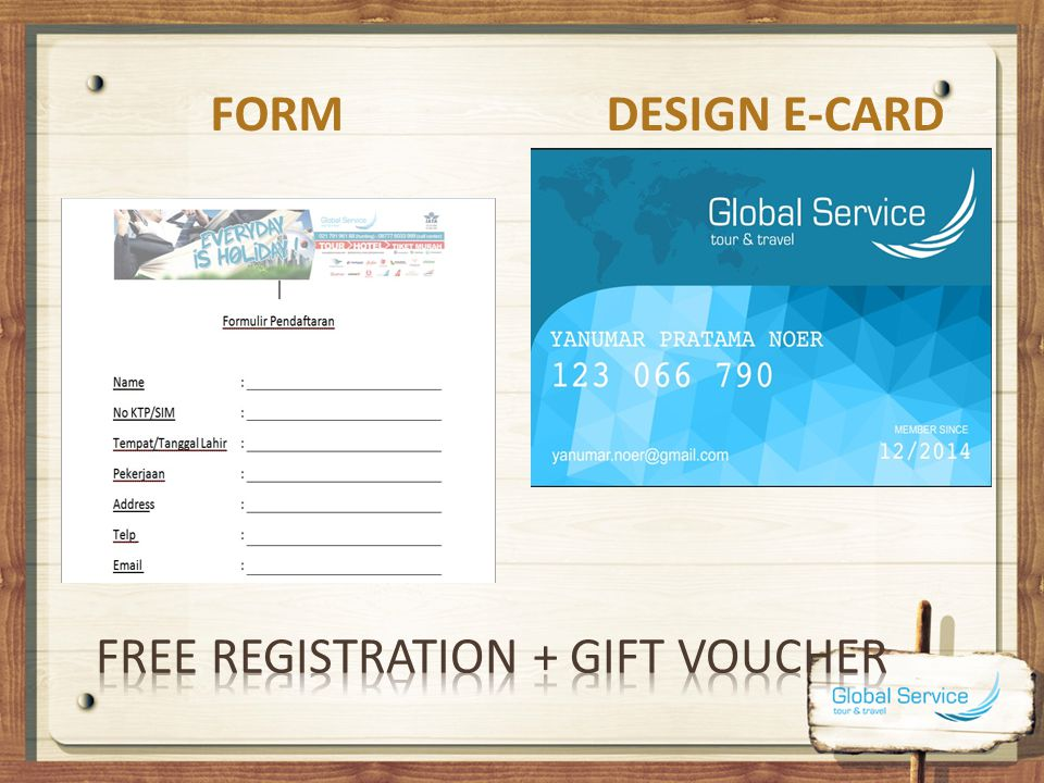 Free registration + gift voucher