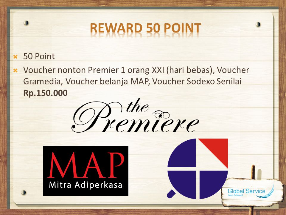 Reward 50 Point 50 Point.
