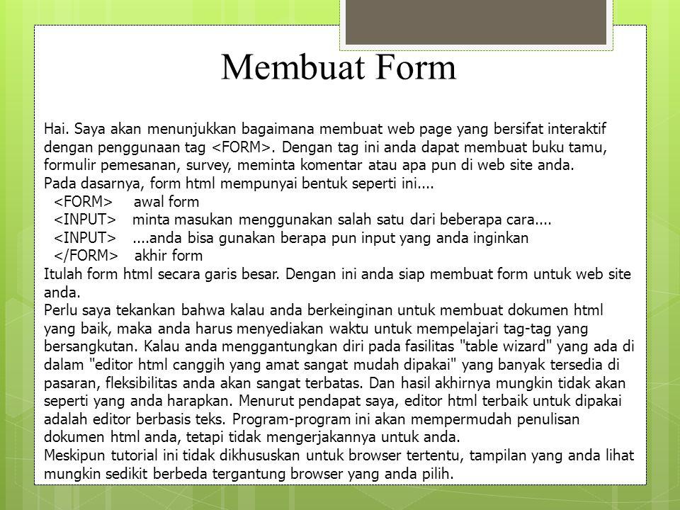 Membuat Form