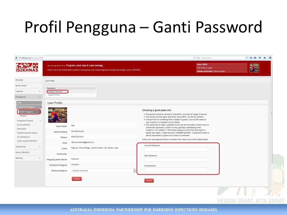 Profil Pengguna – Ganti Password