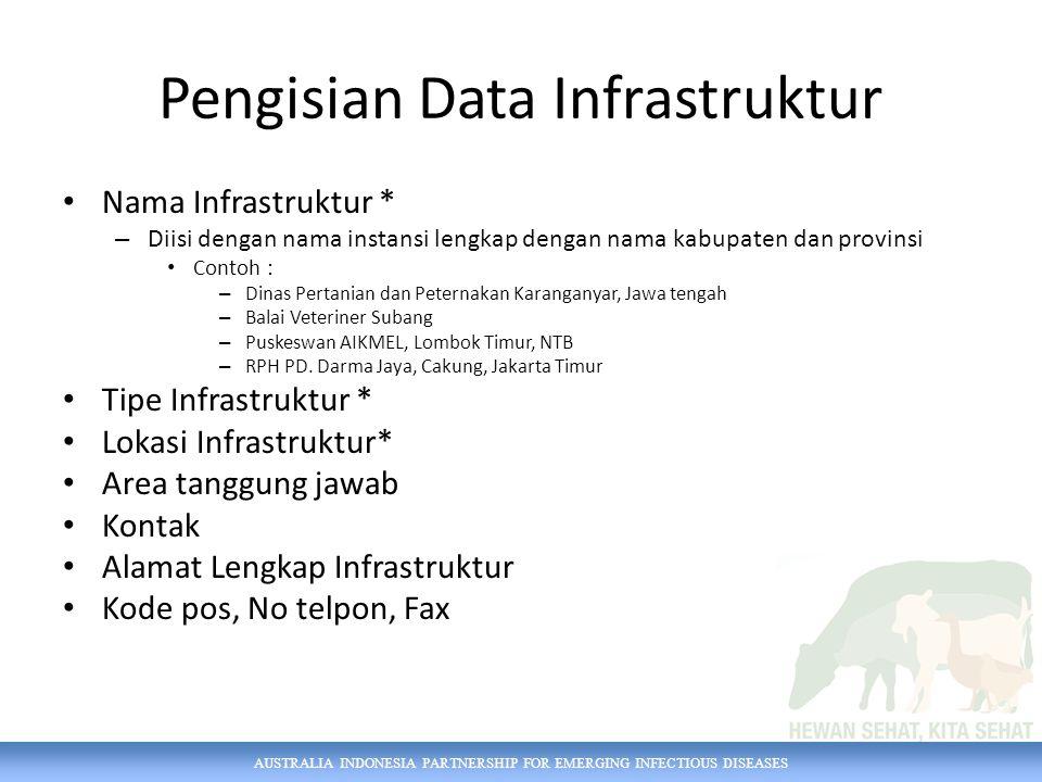 Pengisian Data Infrastruktur
