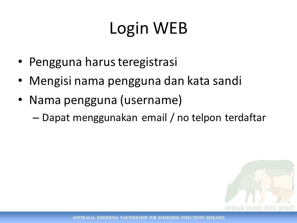 Login WEB Pengguna harus teregistrasi