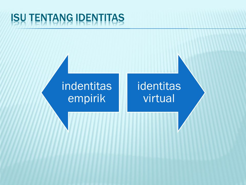 Isu tentang identitas indentitas empirik identitas virtual