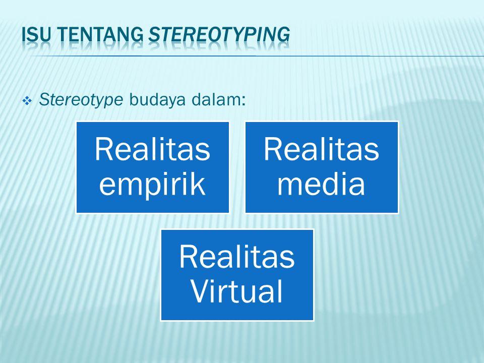 Isu tentang stereotyping