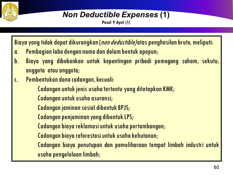 Non Deductible Expenses (1)