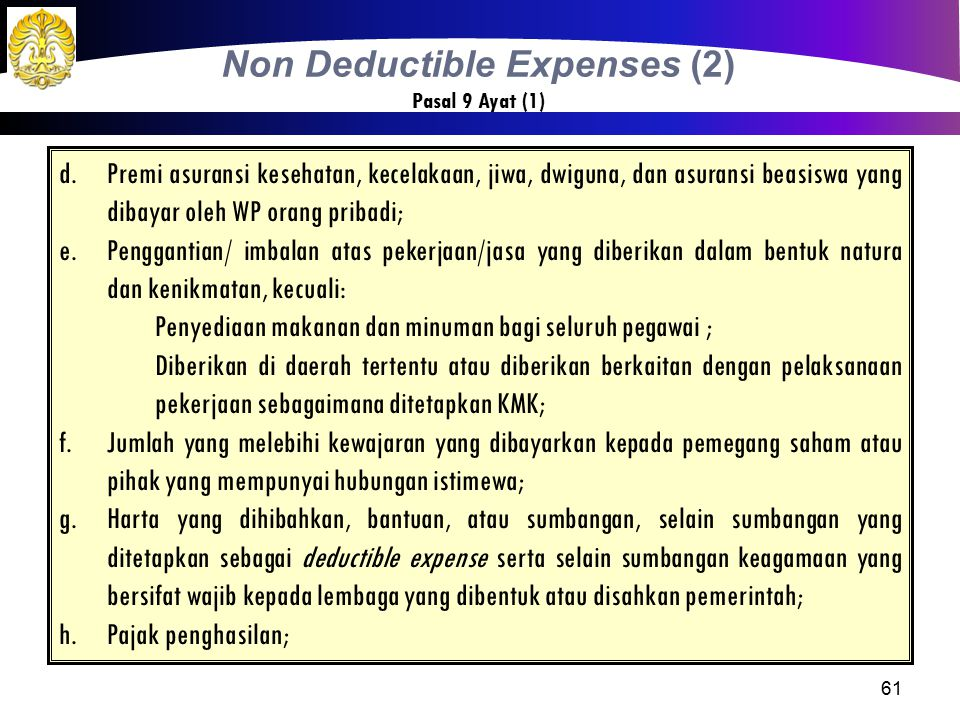 Non Deductible Expenses (2)