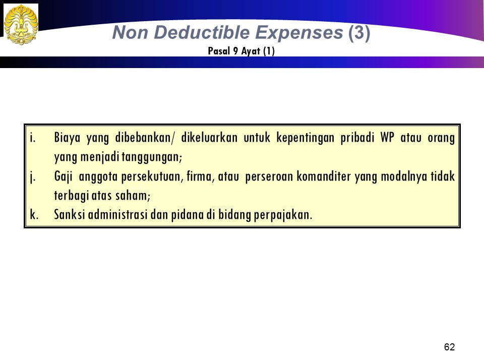 Non Deductible Expenses (3)