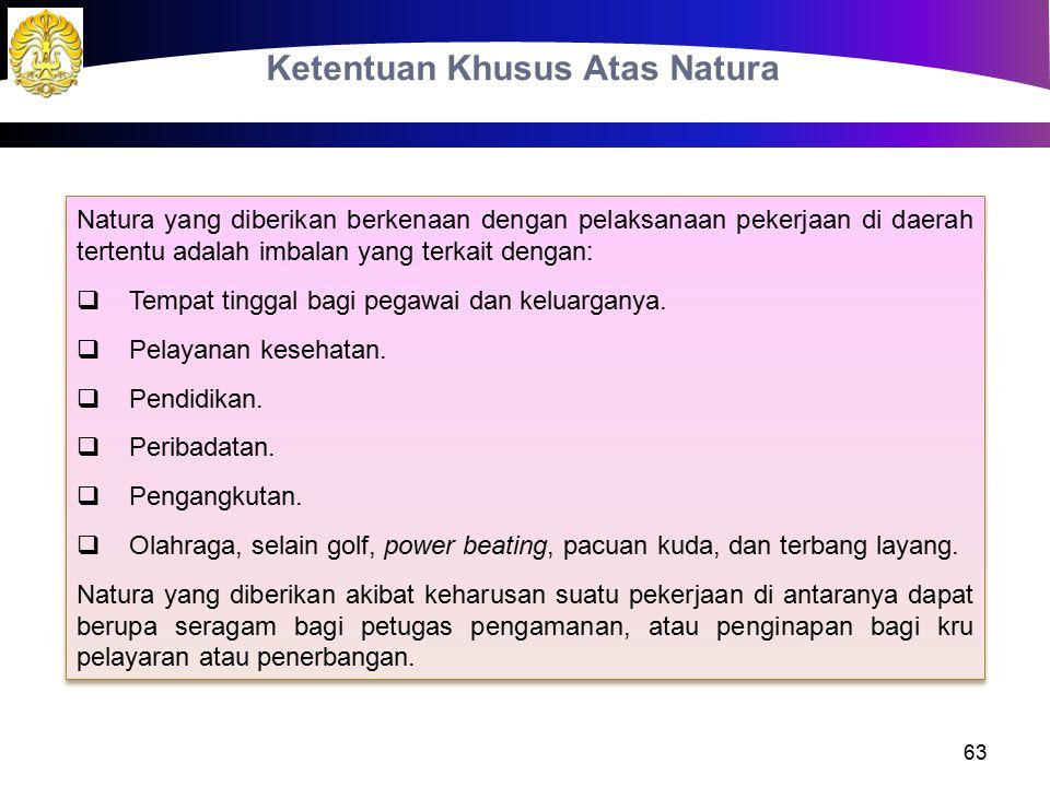 Ketentuan Khusus Atas Natura