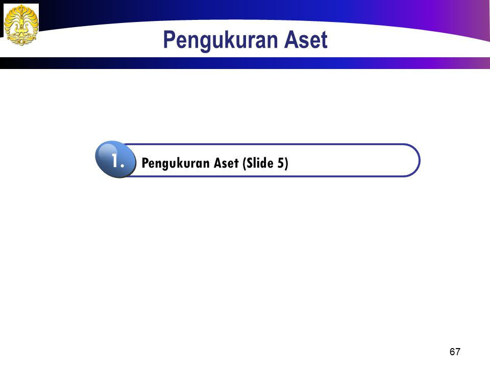 Pengukuran Aset Pengukuran Aset (Slide 5) 1.