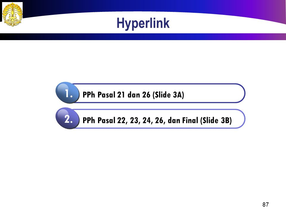 Hyperlink 1. 2. PPh Pasal 21 dan 26 (Slide 3A)