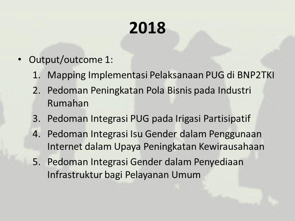 2018 Output/outcome 1: Mapping Implementasi Pelaksanaan PUG di BNP2TKI