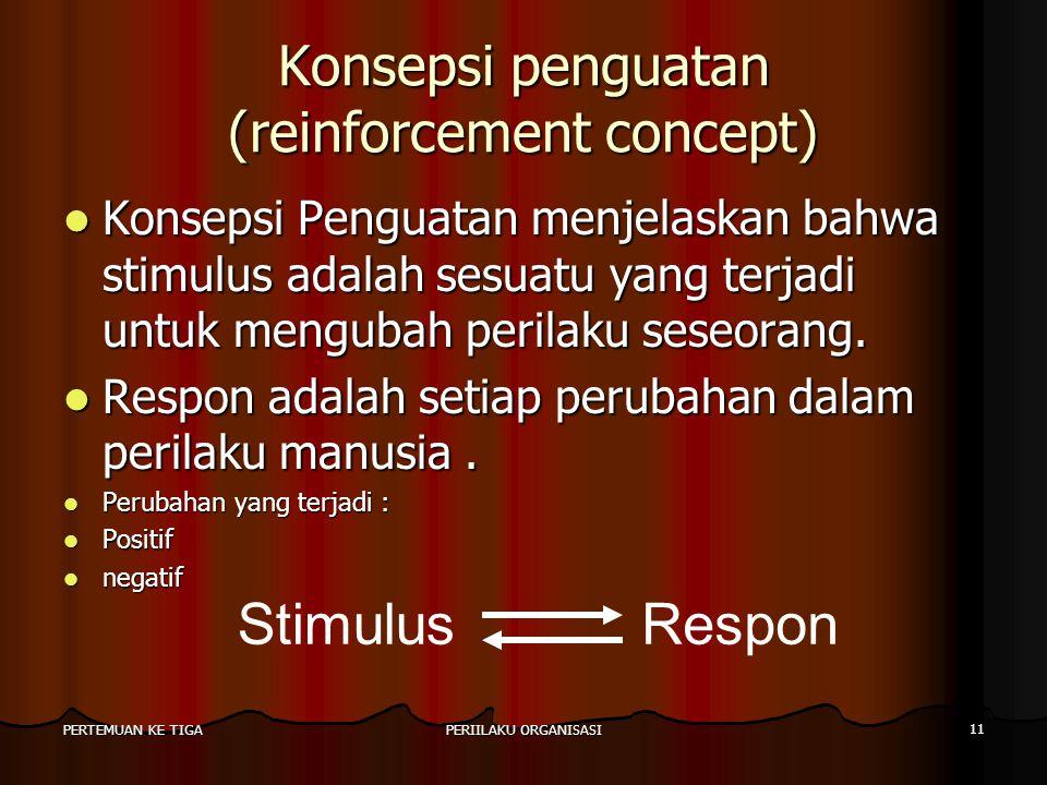 Konsepsi penguatan (reinforcement concept)